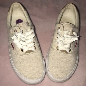 Levi's tan and white sneakers